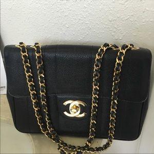 Authentic Chanel Caviar Jumbo Bag
